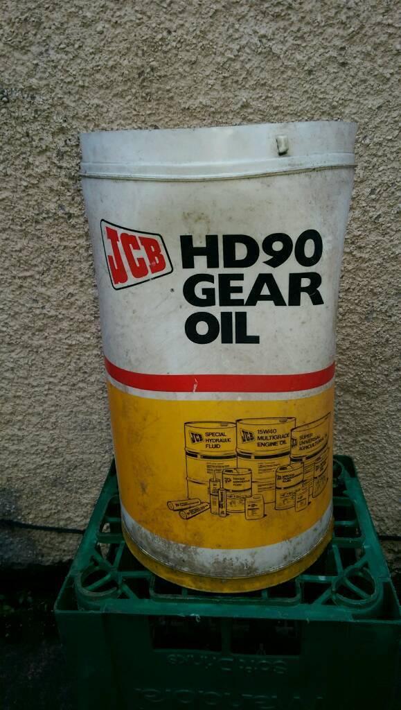 HD 90 axle/gear oil 25 litre drum, sealed.