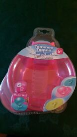 Brand new Tommee tippee magic mat & bowl set. Unopened.