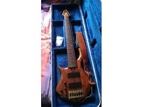 Left handed Warrior 6 String Studio Custom Bass Guitar