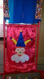 Puppet theatre with 4 puppets.