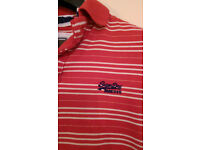 Superdry Red Triple Stripe Polo Shirt
