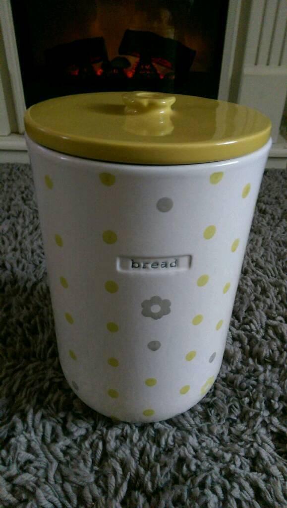 Next ceramic bread bin, great condition