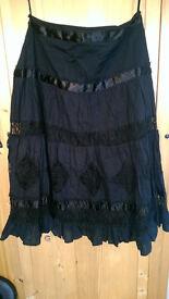 Black hippie Vila skirt size S