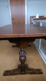 oak refractory dining table and 4 chairs Old Charm