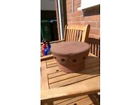 Mushroom Ventilated Terracotta Clay Chimney Pot