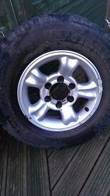 Nissan terrano alloy wheels