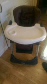 Castto brown leather highchair