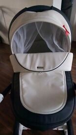 Faux leather baby pram, pushchair and car seat
