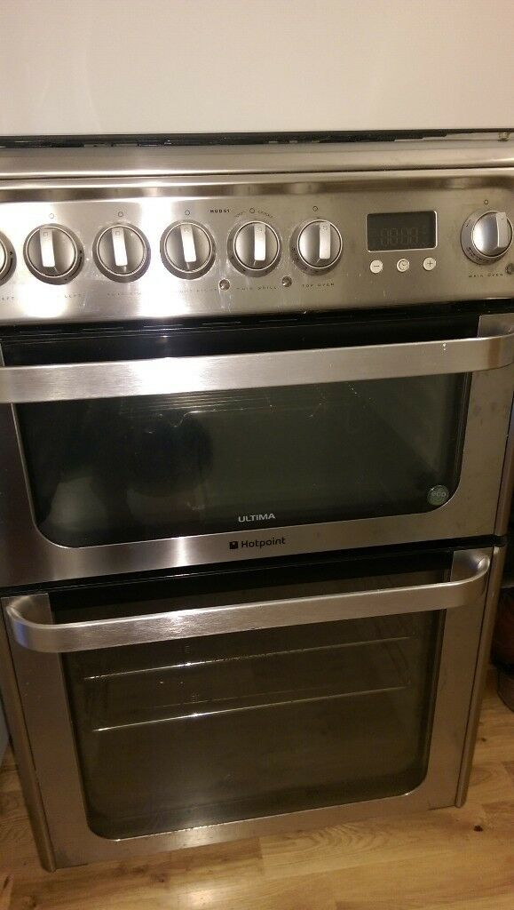 Hotpoint Ultima HUD61 gas Cooker - Graphite