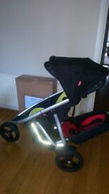 Phil & Ted Vibe Double Buggy/Loads of Extras/New Boxed Chassis & front wheel/Excellent Condition
