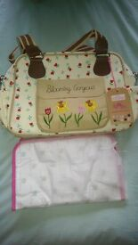 Yummy mummy pink lining changing bag. Brand new with tags £45. RRP £79.99