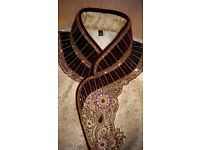 Indian Groom's Wedding Sherwani with matching scarf and Khusa - Size 38