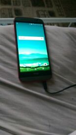 htc one m8 red grey and black looks nearly new just 1 scratch at back