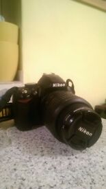 Nikon D3000 SLR Camera, 18-55mm Lens, with charger & case