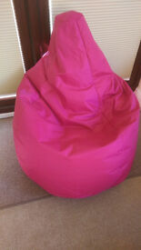 High back Bean Bag extra large in pink.