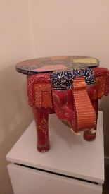 Elephant style Indian painted table rare item