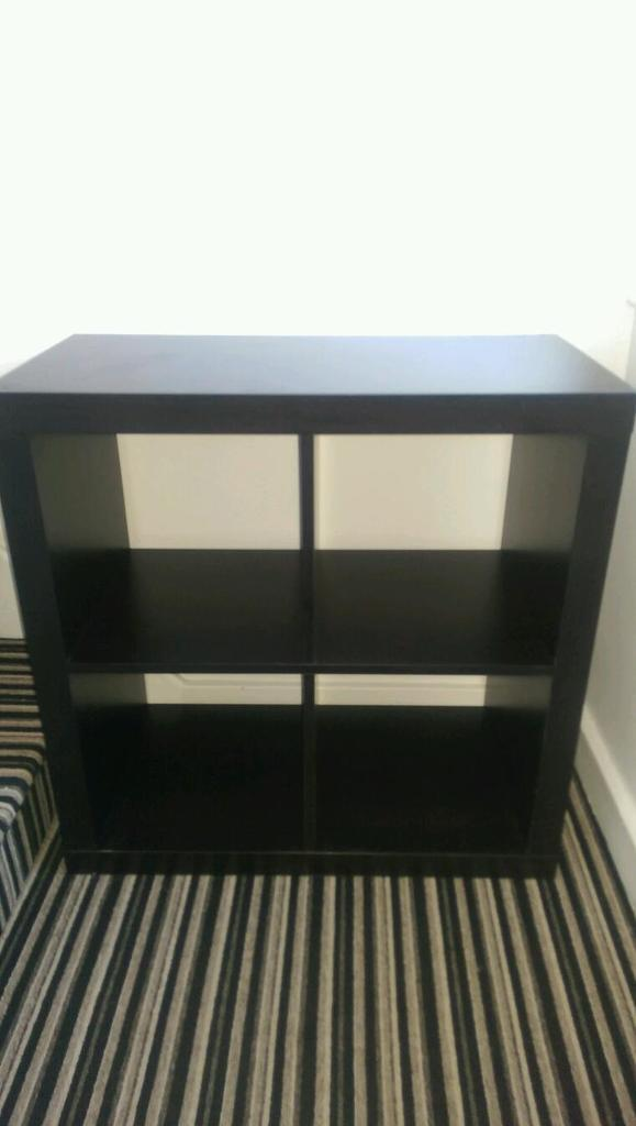 Merveilleux Kallax Ikea 4 Cube Storage Unit Bookcase Shelving Black Brown Matches Malm.  Tv Stand?