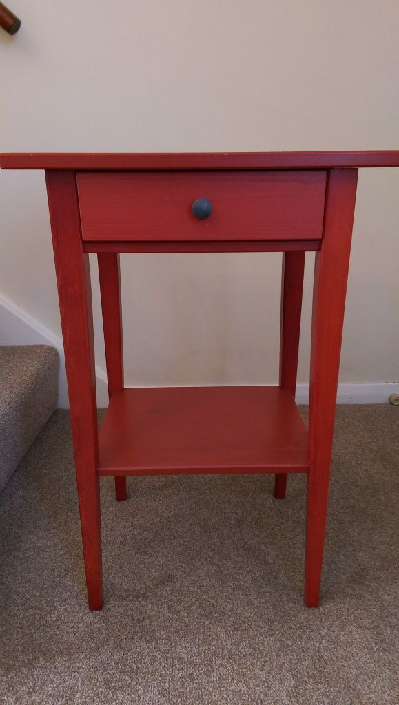 Ikea Hemnes Bedside Table Red In Oxford Oxfordshire Gumtree