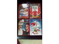 4 x kids christmas DVD's - rated U and PG