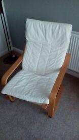 White poang chair
