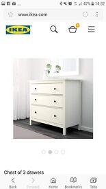 Ikea hemnes 3 draw chest of drawers