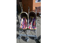 Mamas and Papas Twin Pram / Buggie Kato, in nearly new condition (see x9 photos)