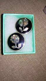Vintage mother of pearl clip on earrings £6