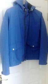 H&m blue light weight jacket.