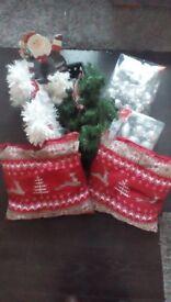 Christmas cushions x 4, new.