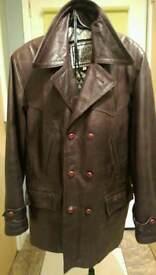 Gents leather Coat size medium