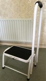 Safety step stool. Non slip bath support mobility aid