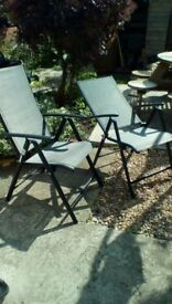 Garden/camping reclining chairs