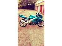 Kawasaki zx9r candy blue, looking for upright bike?