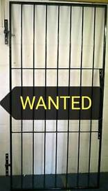 METAL SECURITY GATE WANTED