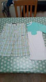 Boys O'Neill 3/4 cargos shorts and T shirt - age 11/13