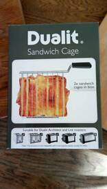 Dualit sandwich cage for toasters