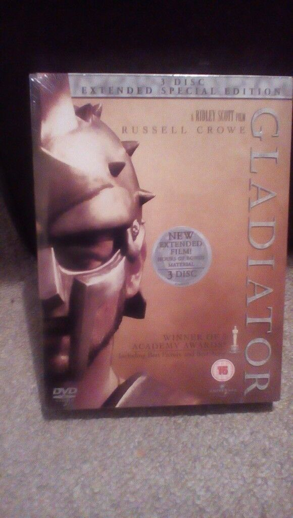 Gladiator Special Edition Dvd New & Sealed Free Delivery