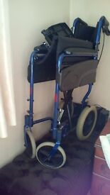 Blue wheelchair. Almost new