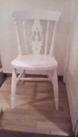 Lovely white chair