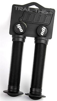 ODI Soft Flanged Longneck ST Grips Softies w/ Plugs BMX Bikes & Scooters - BLACK