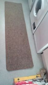 """CARPET RUNNER BROWN MIX, HESSIAN BACK 5'11"""" x 1'7"""" EXCELLENT CONDITION"""