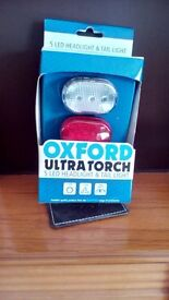 Oxford Ultra Torch 5 Led Headlight and Tail Light