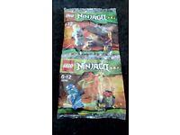 LEGO NINJAGO KITS 30085, 30086 PROMO PACK'S NEW SEALED PACKETS