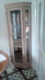 Limed oak corner unit