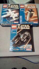 LEGO KABAYA SET OF THREE X-WING SLAVE 1 TIE INTERCEPTOR NEW SEALED BOXES