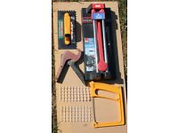 Tiling tools, used, various