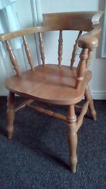 Heavy Pine Captains Chair
