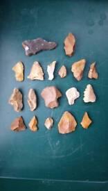 Palaeolithic flint tools