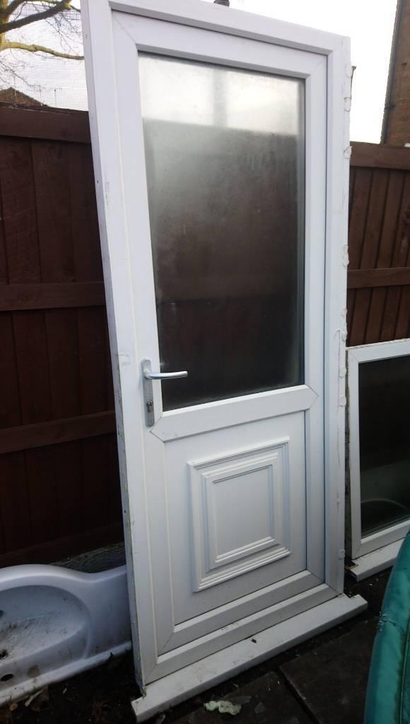 Upvc Back Door Clear Glass Width 870 890mm Height 2070mm Free