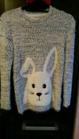 Girls Bunny sweater new